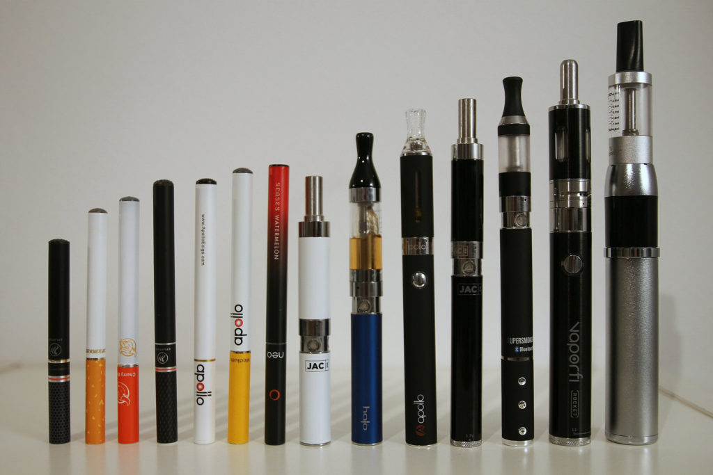 variety of e-cigarettes