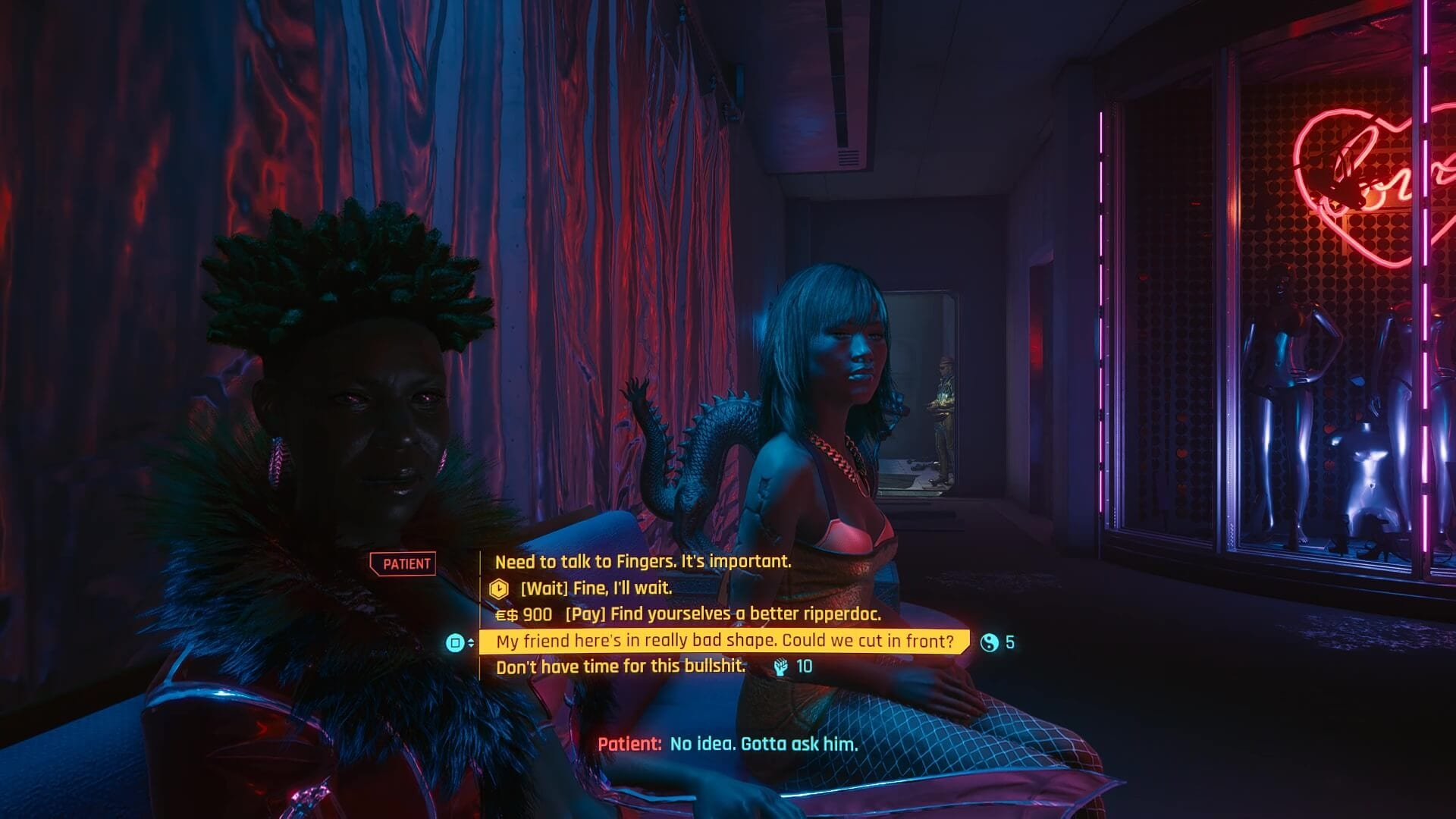 Cyberpunk 2077 Dialogue Choices