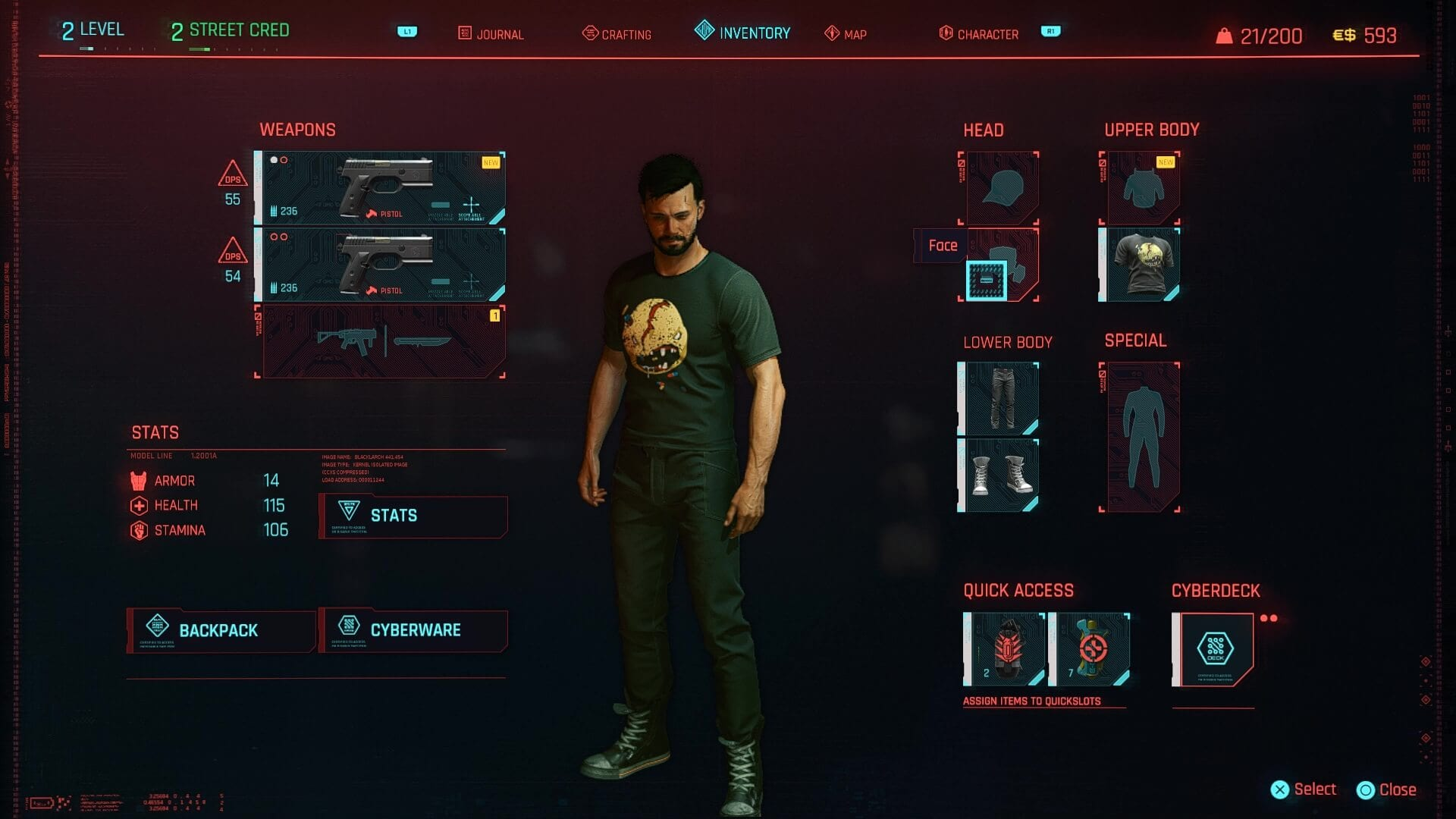 Cyberpunk 2077 Inventory Management