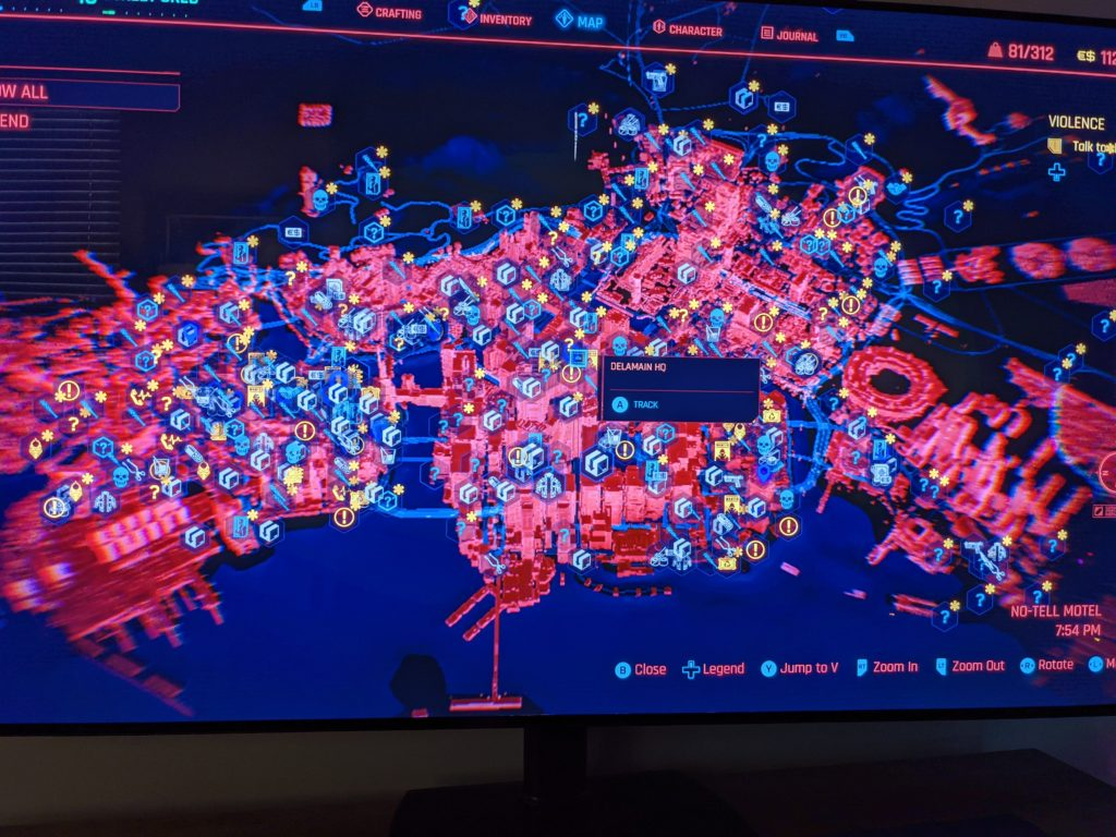 The entire map of Cyberpunk 2077 has been leaked online.