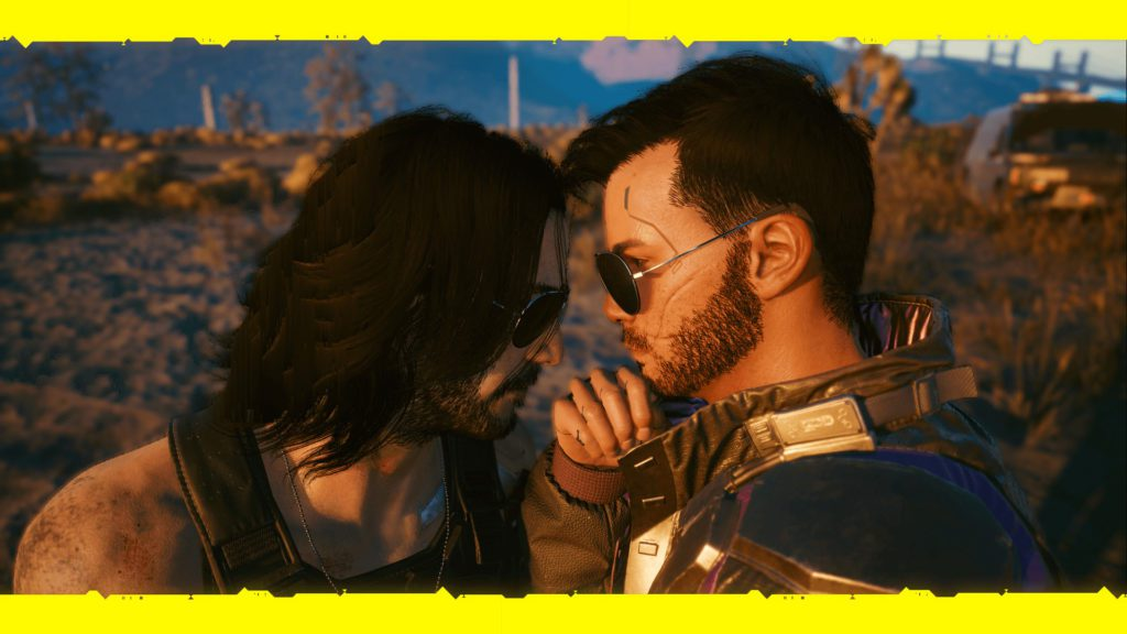 V and Johnny Silverhand in Cyberpunk 2077 2