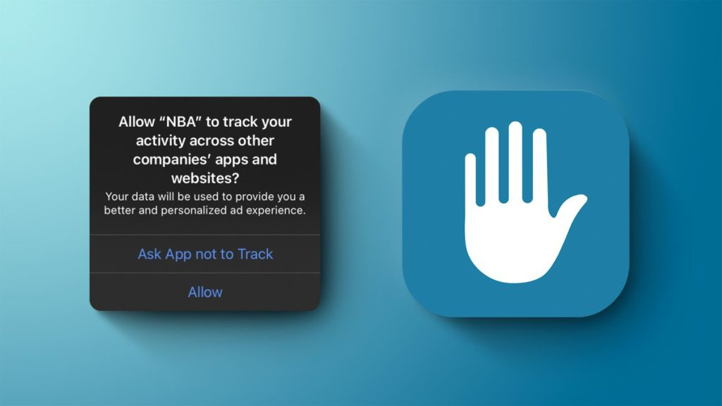 Privacy tracking prompt pop-up