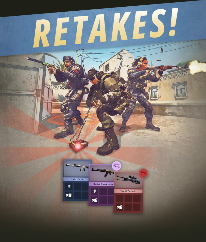 CSGO now has a new mode called Retakes.