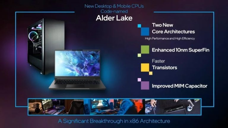 Intel Announces New Alder Lake Chips, Will Take on Apple M1