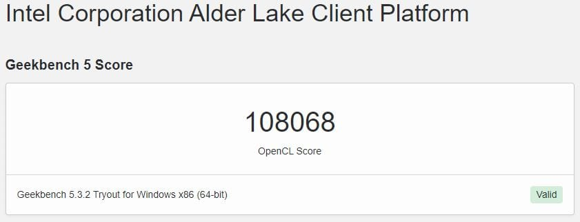 Intel 12th Gen Alder Lake 12th Gen CPU Benchmark Leak on Geekbench