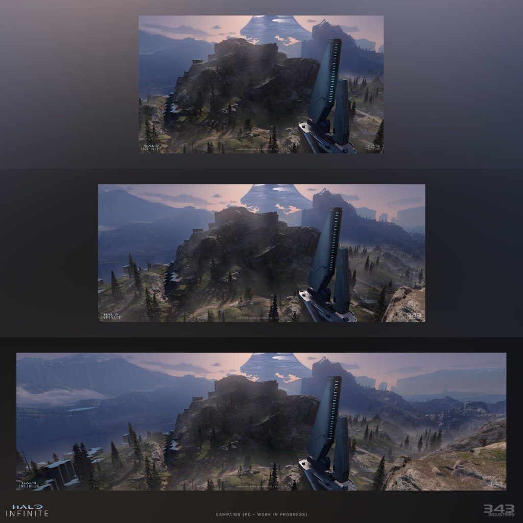 Halo Infinite's support for multiple aspect ratios on PC lets you see more horizontally without seeing less vertically.