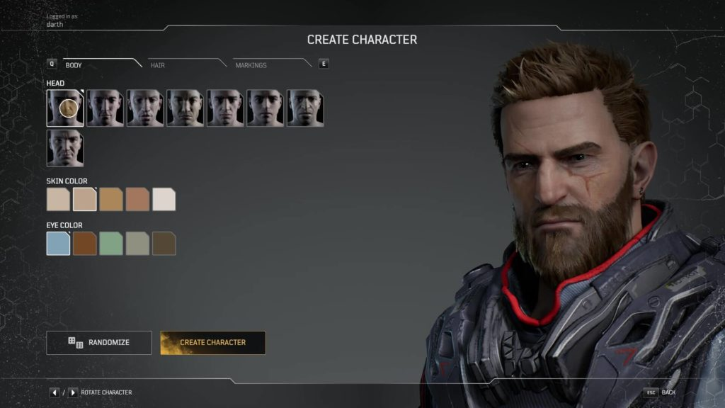 Outriders Character Creator