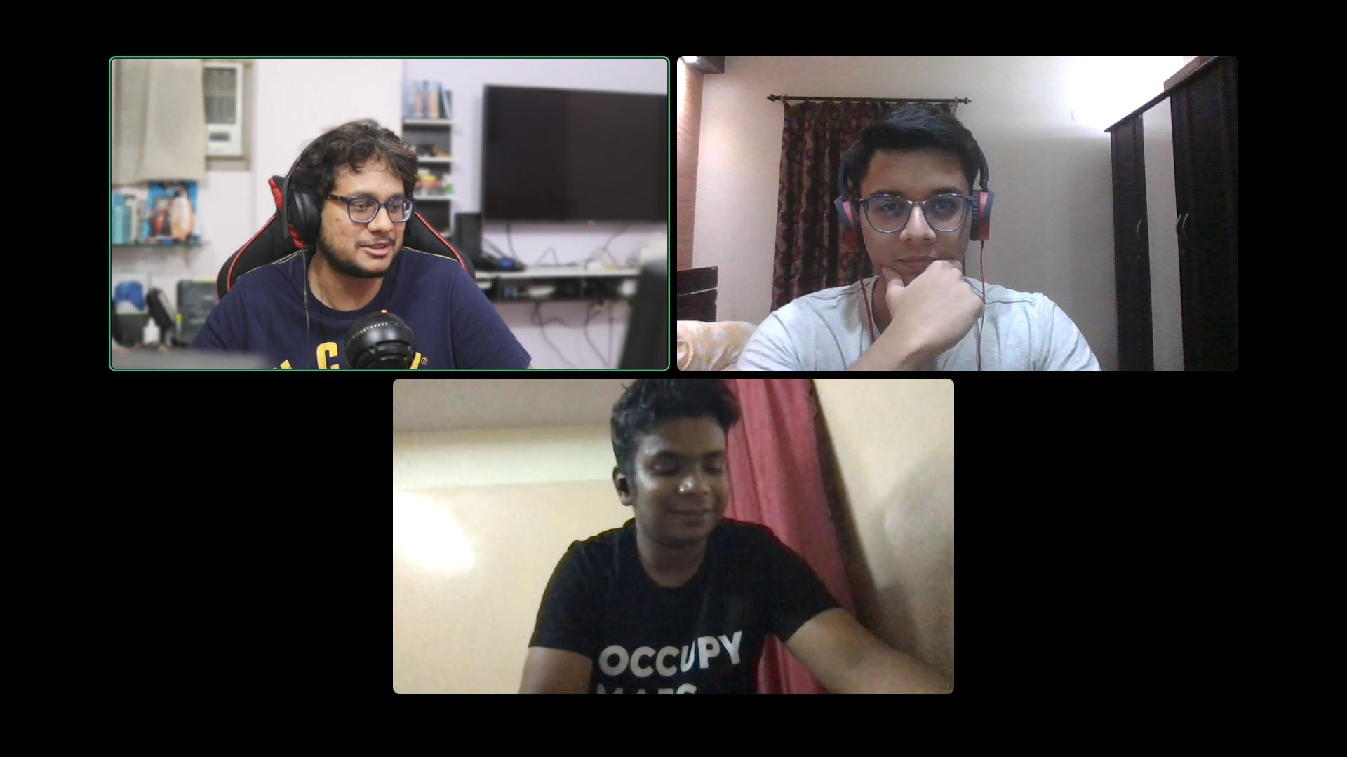 Snapshot of a Discord Video Call with TQ writer on the built-in HP Webcam