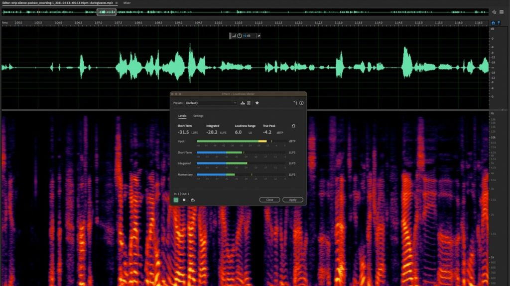 Strip Silence feature on Adobe Audition. Courtesy: Apple Insider