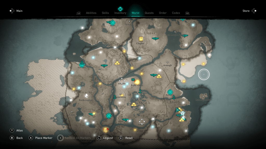 Assassin's Creed Valhalla Wrath of the Druids Ireland Map 1