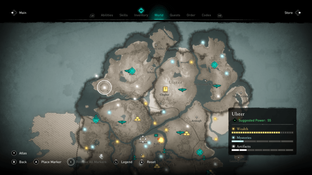 Assassin's Creed Valhalla Wrath of the Druids Ireland Map 2