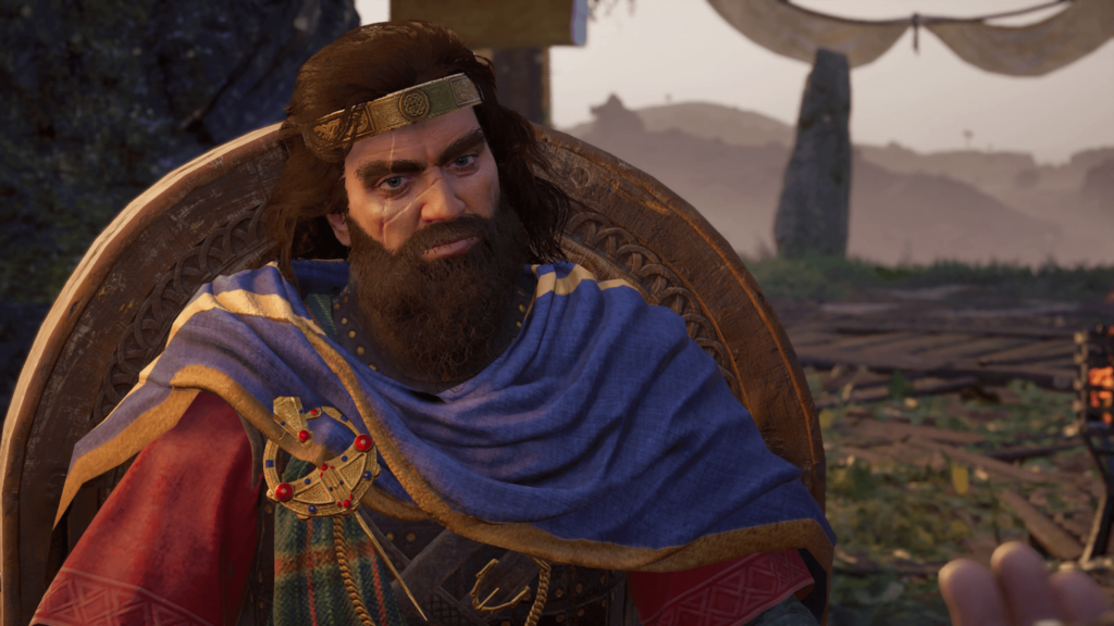 King Flann in Assassin's Creed Valhalla Wrath of The Druids