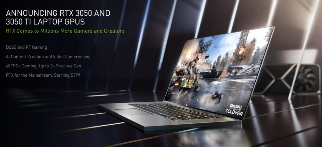 NVIDIA GeForce RTX 3050 and 3050 Ti Gaming Laptops Banner