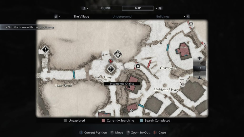 The Map of the Village in Resident Evil 8