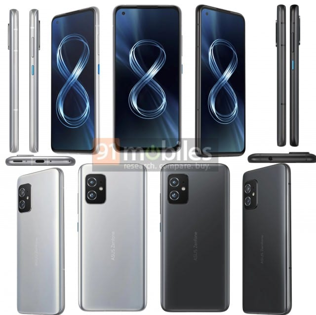 The Zenfone 8 will be a simpler alternative to the Flip. Courtesy: 91Mobiles