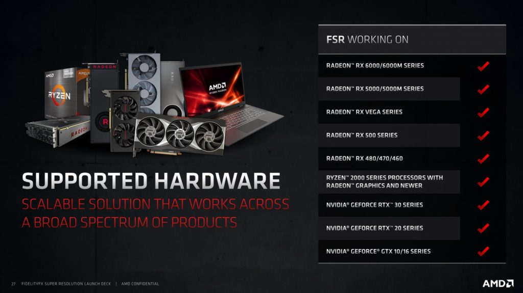 AMD FSR Supported GPUs and Hardware