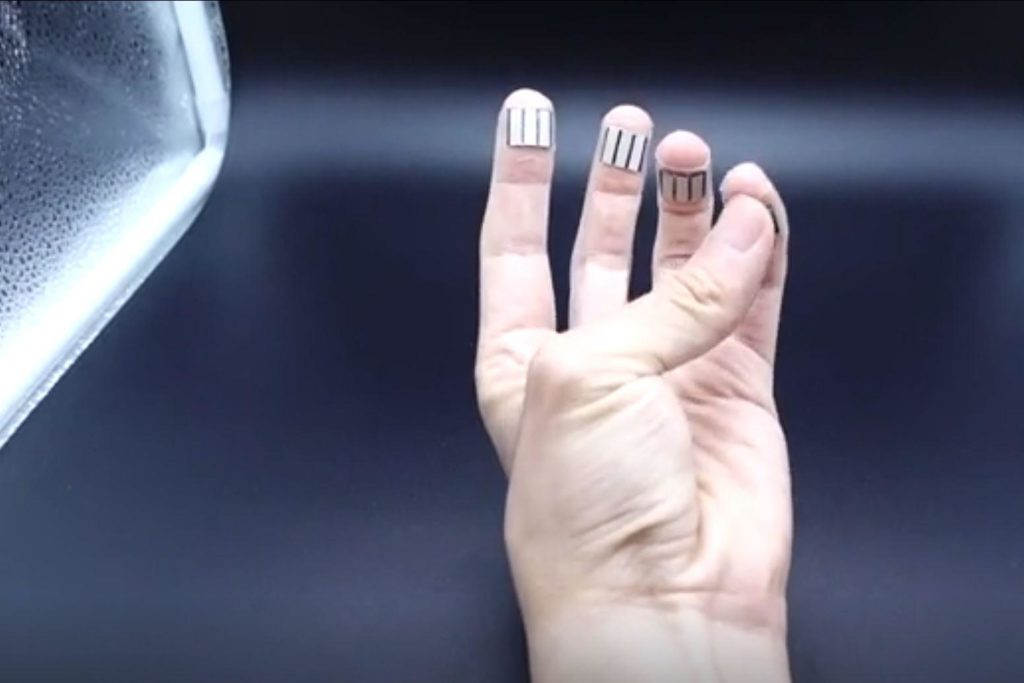 collect energy from your sweaty fingertips