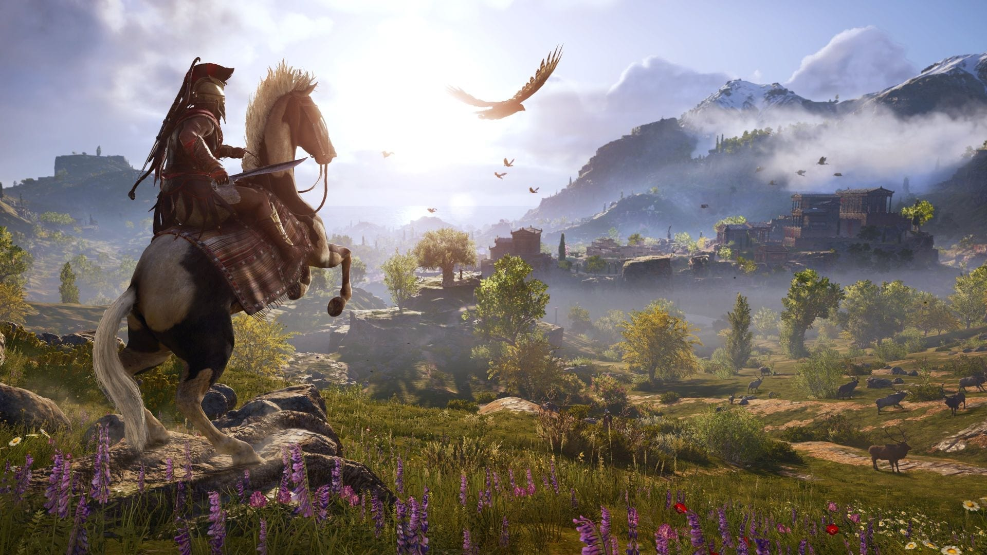 It's gonna be a looong ride in Assassin's Creed: Odyssey