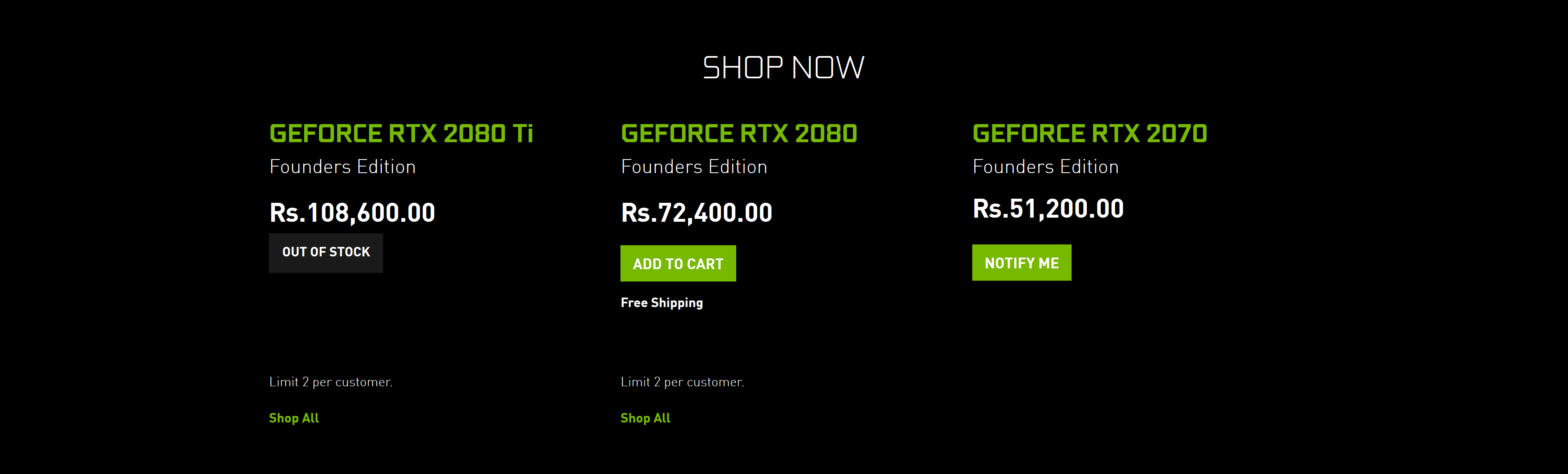 NVIDIA Increases Price of GeForce RTX 2080 Ti By $85