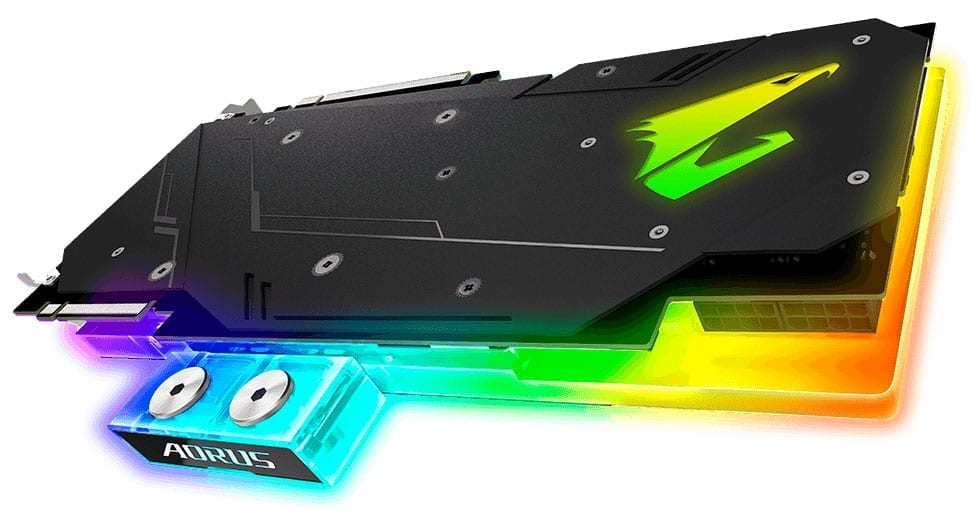 Gigabyte Colorful Aorus RTX 2080 & 2080 Ti Xtreme WaterForce