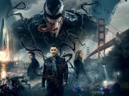 Venom, starriing Tom Hardy, Riz Ahmed and Michelle Williams, produced by Sony